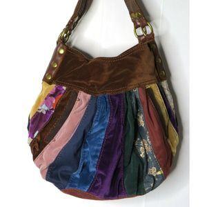 "Lucky Brand Large Hippie Hobo Bag 12""x 14"" RARE"